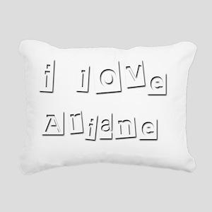 I Love Ariane Rectangular Canvas Pillow