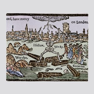 Plague in London, 1625 Throw Blanket
