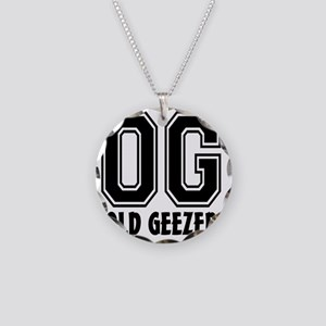 OG - Old Geezer Necklace Circle Charm