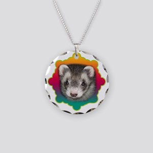Ferret Sable Necklace Circle Charm
