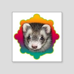 """Ferret Sable Square Sticker 3"""" x 3"""""""