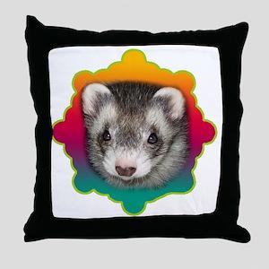 Ferret Sable Throw Pillow