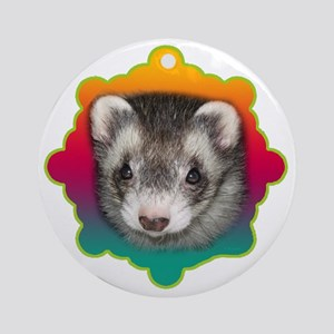 Ferret Sable Round Ornament