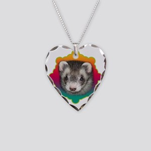 Ferret Sable Necklace Heart Charm