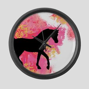 Arabian Horse Large Wall Clock