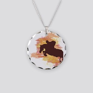 Horse Jumper Necklace Circle Charm