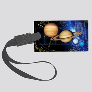 Solar system planets Large Luggage Tag