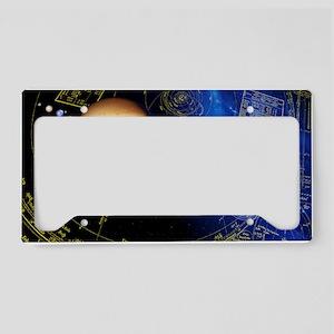 Solar system planets License Plate Holder