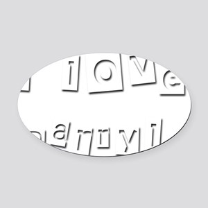 I Love Darryl Oval Car Magnet