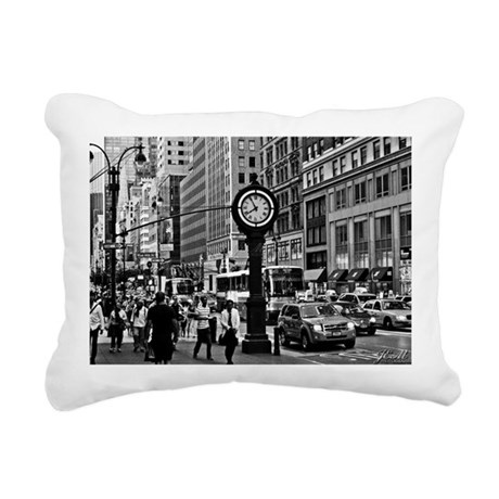 Fifth Ave - New York Cit Rectangular Canvas Pillow