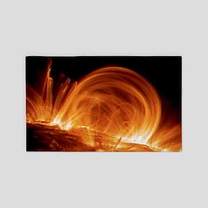 Solar coronal loops 3'x5' Area Rug