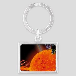 SOHO satellite Landscape Keychain