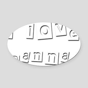 I Love Danna Oval Car Magnet