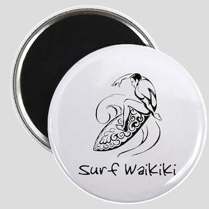 Surf Waikiki, Hawaii Magnet
