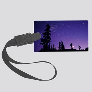 Starry sky Large Luggage Tag