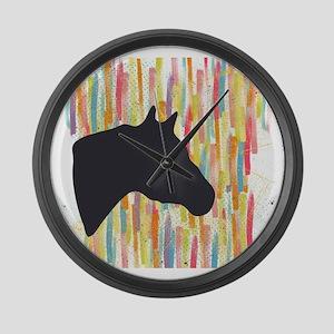 Quarter Horse Large Wall Clock