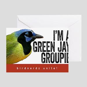 Green Jay Groupie Greeting Card
