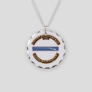 Army - EIB Necklace Circle Charm