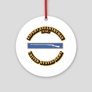 Army - EIB Ornament (Round)