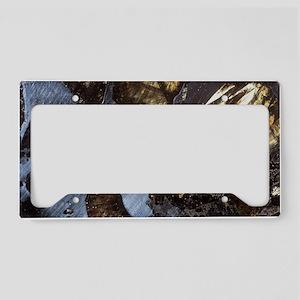Stony-iron meteorite License Plate Holder