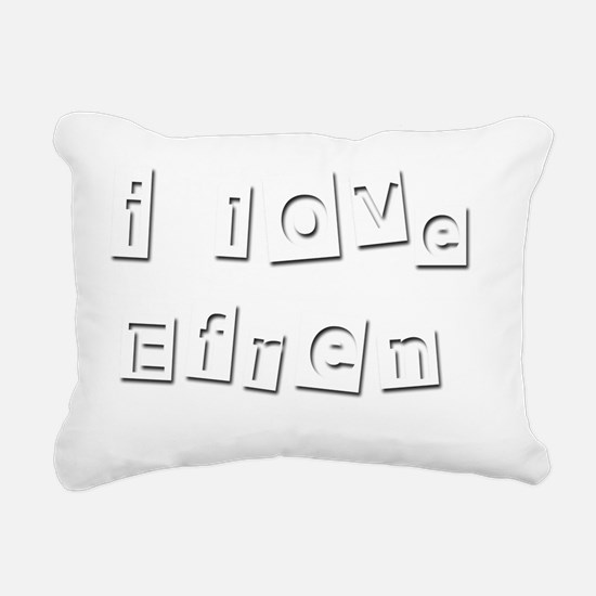 I Love Efren Rectangular Canvas Pillow