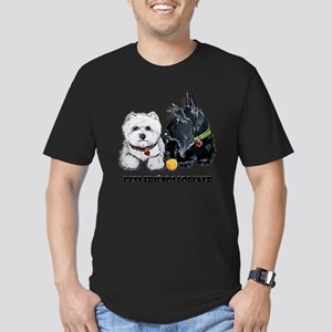 Westie Scottie Best Fr Men's Fitted T-Shirt (dark)