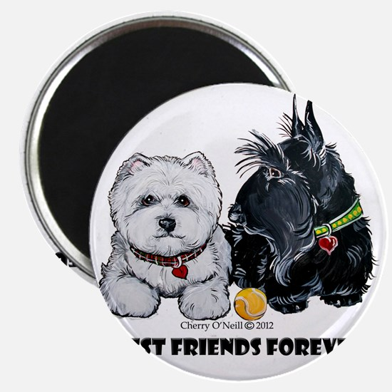 Westie Scottie Best Friends Magnet
