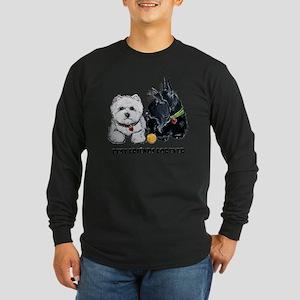 Westie Scottie Best Frien Long Sleeve Dark T-Shirt