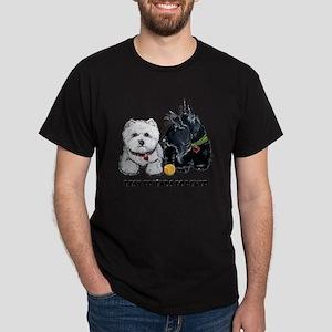 Westie Scottie Best Friends Dark T-Shirt