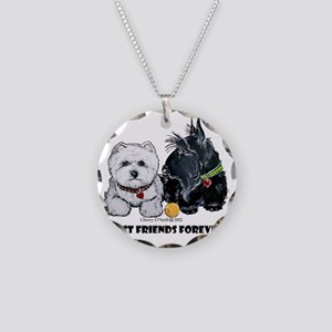 Westie Scottie Best Friends Necklace Circle Charm