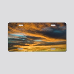 Sunset over San Ignacio lag Aluminum License Plate