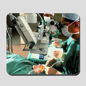 Surgeon removes cataracts using ultrasou Mousepad