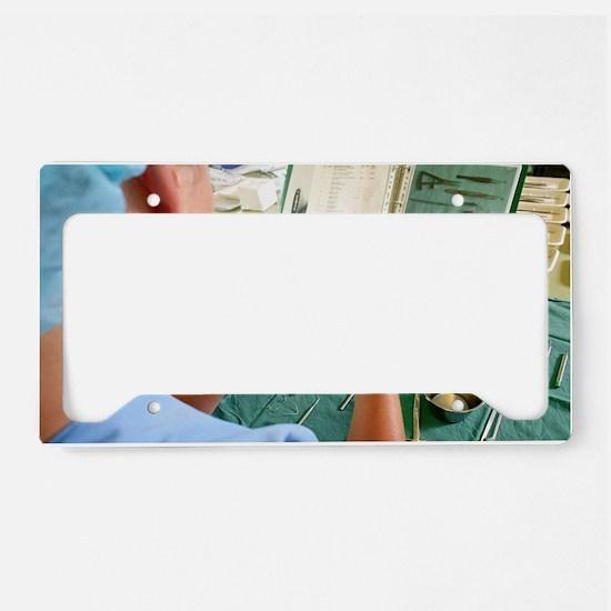 Surgical instruments License Plate Holder