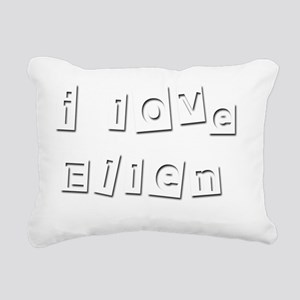 I Love Ellen Rectangular Canvas Pillow