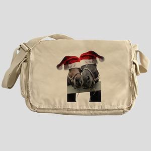 Christmas Horses In Love Messenger Bag