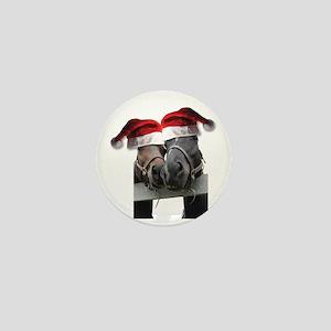 Christmas Horses In Love Mini Button
