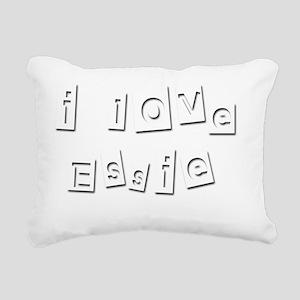 I Love Essie Rectangular Canvas Pillow