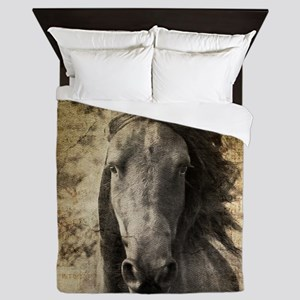 Friesian Horse Queen Duvet