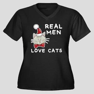 Real Men Lov Women's Plus Size Dark V-Neck T-Shirt