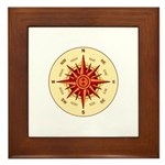 Compass Rose Framed Tile