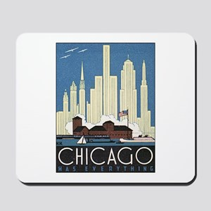 Vintage Chicago Travel Mousepad