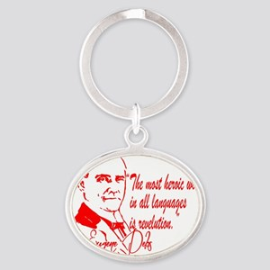 Debs With Quote Oval Keychain