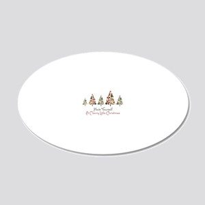Merry Little Christmas 20x12 Oval Wall Decal