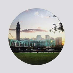 Hoboken Sky Round Ornament