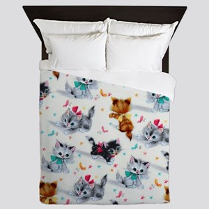 Cute Kittens Queen Duvet