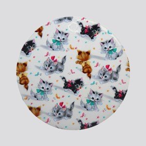 Cute Kittens Round Ornament