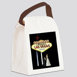 Engaged In Las Vegas Card Canvas Lunch Bag