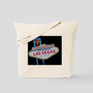 Engaged In Las Vegas Card Tote Bag