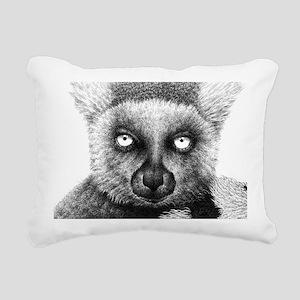 Ring-tailed Lemur Bucket Rectangular Canvas Pillow