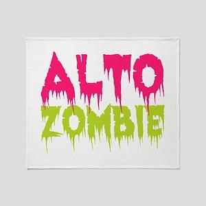Choir Alto Zombie Throw Blanket